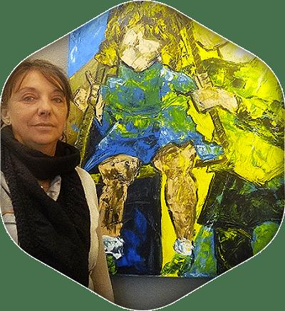 Portrait de l'artiste peintre Elisabeth-Rameau Brunon.